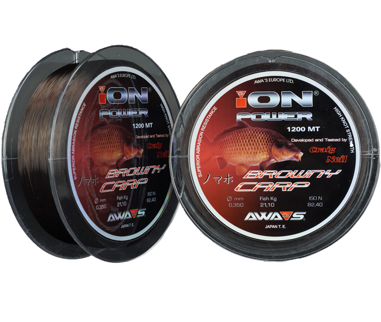 Леска ION Power Browny Carp  1200м 10,2кг/0,286мм (Зеленая)