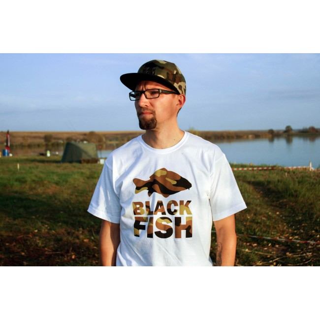 Футболка Black Fish T-Shirt White & Camo Размер L