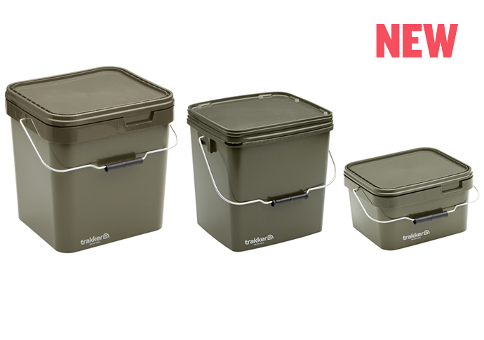 Квадратное ведро для прикормки Trakker Olive Square Containers 13л